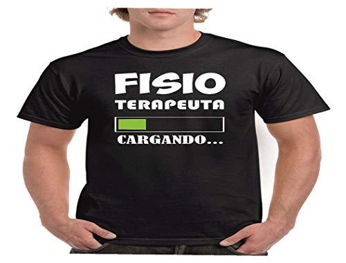 Camisetas divertidas Child fisioterapeuta en Proceso. Cargando. - para Hombre Camisetas Talla Large Color Negro