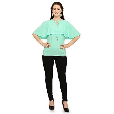 b1c93ed7c9d542 Vrati Fashion Women Tunic Short Top for Jeans Plain Diamond Creap Top for Daily  wear Stylish ...