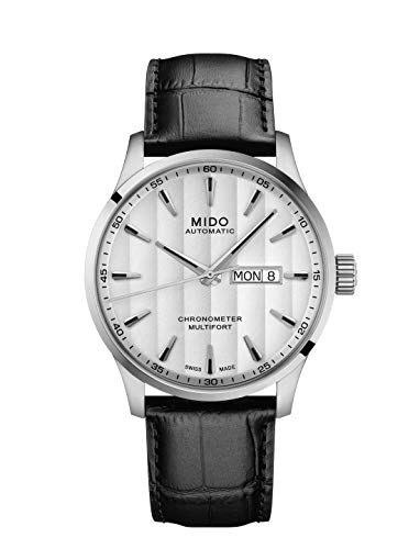 Mido Men's Multifort Chronometer 42mm Black Leather Band Steel Case Automatic Watch M038.431.16.031.00