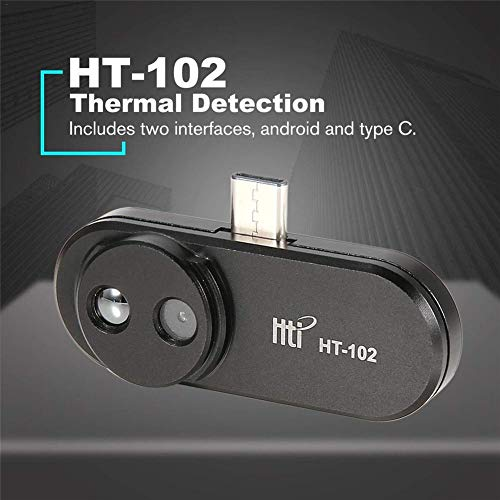 Cámara termográfica HT-102 Cámara portátil de imagen térmica Dispositivo portátil de imagen infrarroja térmica Vídeo e imágenes Grabación Cámara facial con detección de rostros para Android