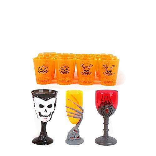 Hunde Brot Kostüm - TZJ Kreative LED-Licht Weinglas Induktion Farbwechsel Tasse Halloween Geist Festival Veranstaltungsort Atmosphäre Dekoration Zubehör Großhandel