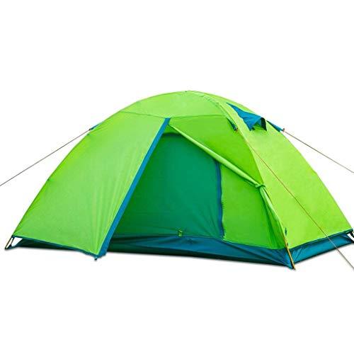 WSGZH Instant Zelt Double People Double Layer Wasserabweisend UV-Schutz Tragbares Camping Zelt, Grün (Instant Zelte)