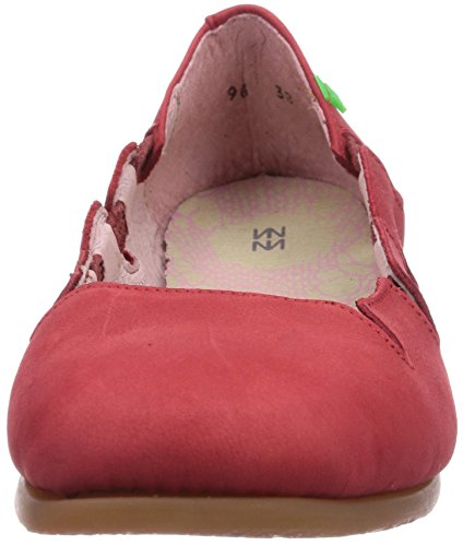Naturalista Rot Grosella Damen N961 Croche Geschlossene Ballerinas El ZqxzHwdH