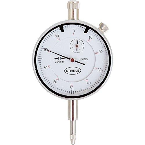 STEINLE Messuhr 3105 0-10 mm Ablesung: 0,01 mm Zffernblatt: 58 mm Zeigerumdrehung: 1 mm (Messuhr Magnet)