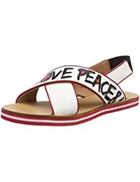 Love Moschino Sabotd.54418/20 Nap.Bian/Vern.Rosso, Mules Femme, Multicolore (White-Red), 39 EU