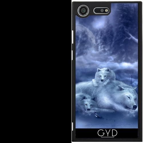 DesignedByIndependentArtists Hülle für Sony Xperia XZ Premium - Wolf Kind by Illu-Pic.-A.T.Art -