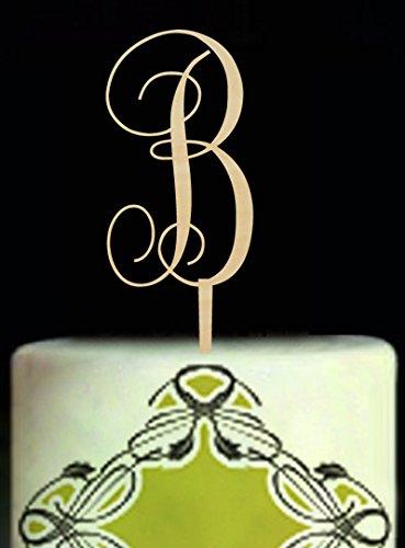 CHEN Topper Birthday Party Dekorationen Gastgeschenken Kuchen Topper Individuelle Rustikal natur Holz Baby Dusche Kuchen Topper ()