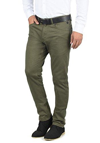 BLEND Saturn Herren Chino Hose Stoffhose Aus Stretch-Material Slim Fit, Größe:W32/32, Farbe:Dusty Green (70595)