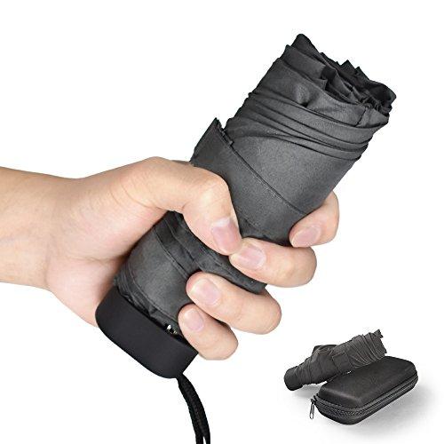 Ballad Parapluie de poche,Parapluie Pliant, compact et pliable, Parapluies de voyage et sorties en plein air.-Compact, Léger et à la mode (Gris)