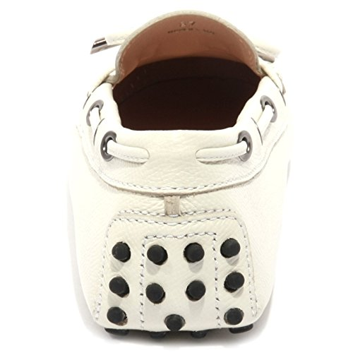 B1531 mocassino donna TOD'S LACCETTO OCCHIELLI scarpe bianco loafer shoes women Bianco