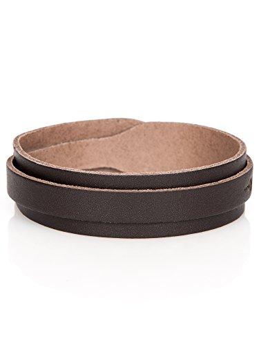 Stylez-Connection Lederarmband Herren Canton Leder Armband größenverstellbar, Farbe braun