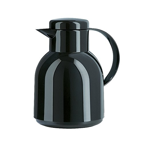 Emsa 661100704 Samba Isolierkanne (1 Liter, Schraubverschluss, 12h heiß, 24h kalt) schwarz