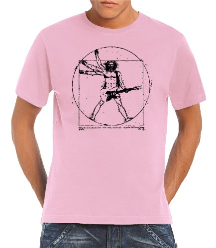touchlines-t-shirt-da-vinci-rock-guitar-t-shirt-da-uomo-rosa-pink-xl