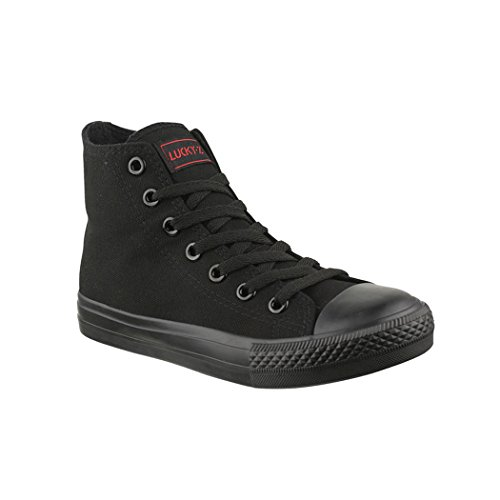 Lucky Z Zapatillas Deportivas Unisex Hombre y Mujer Textil High Top Chunkyrayan P 019-A AllBlack-42