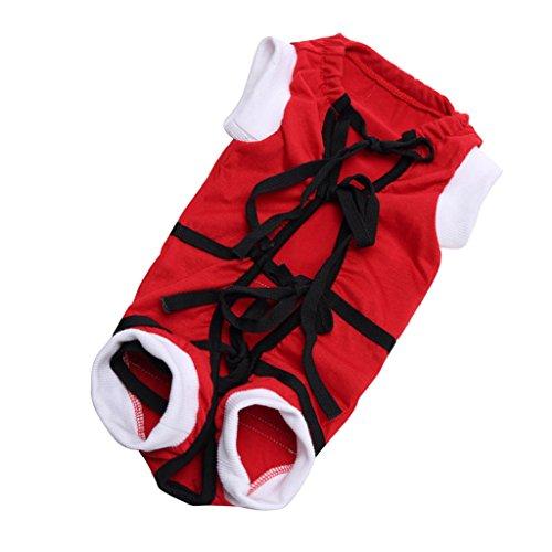 de Mantel Hundebekleidung Frühling Haustier Kleidung für Hunde Und Katzen - Rot - S (Einfach Katze Kostüm Für Arbeit)