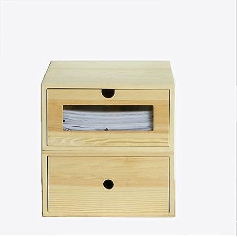 Office Desktop cassetto tipo di stoccaggio Scatola di file di dati di finitura Box Office Forniture di finitura Cabinet Storage Box ( colore : Naturale )