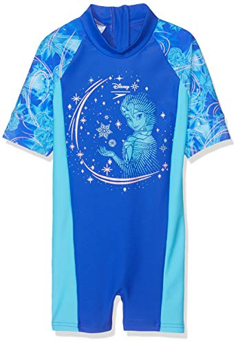 Speedo Mädchen Disney Frozen All In One Badeanzug, ELSA Magic Beautiful Blue/Tur, 5 Jahre