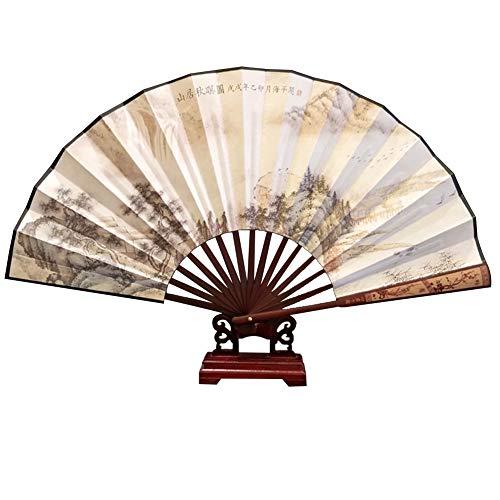 CAOLATOR Männer Faltfächer Handfaecher Chinesische Stil Faltventilator Klassische Herren Klappfächer Handventilator Faltbare Fan 6