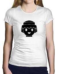 OKAPY Camiseta Playmobil. Una Camiseta de Hombre para los Fans de los playmobil. Camiseta Friki de Color Negra