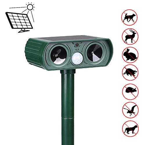 Ultraschall Tiervertreiber Repellent, Katzenschreck Ultraschall Solar, Wasserdichte Tiervertreiber Solar Batteriebetriebe, Tiervertreiber Ultraschall für Katzen, Hunde, Schädlinge, Rotwild, Mäuse