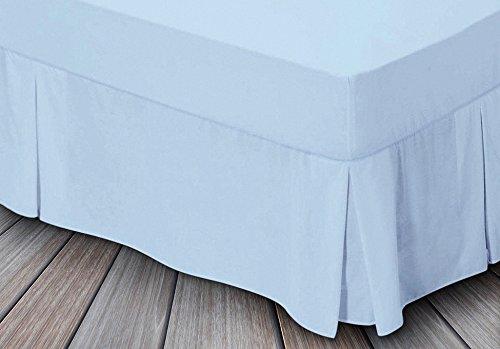 Lin Zone facile d'entretien Drap-housse Tour de lit très profond plissé, bleu ciel, Simple