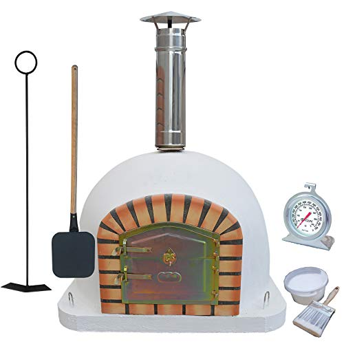 Brick Outdoor Wood Fired Pizza Oven 110 cm Package