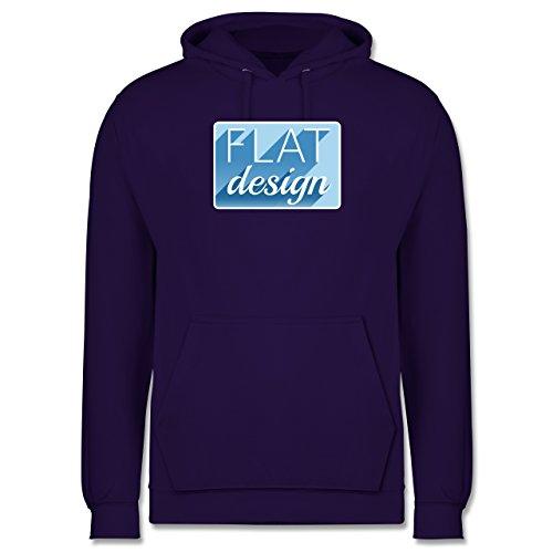 Nerds & Geeks - Flat design - Männer Premium Kapuzenpullover / Hoodie Lila