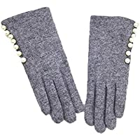 LPFS Guantes Guantes táctiles de Pantalla para Mujer de Invierno, con Aislamiento cálido y cálido, Forrados con Guantes de Mensajes de Texto Inteligentes (Color : Negro)