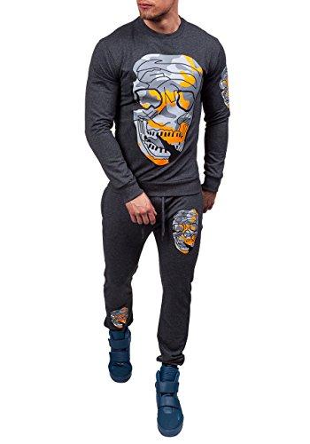 BOLF Outerwear Jogginganzug Fitnesshose Trainingsanzug ATHLETIC 0456 Anthrazit S [8H8] |