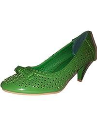 3-W-Hohenlimburg Pfiffige Stiletto Pumps High Heels. Orange oder Grün. mit  Schleife. Damenschuhe, Schuh für… ba84ee898e