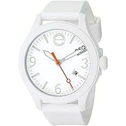 ESQ by Movado Women's 42mm White Silicone Band & Case Quartz Analog Watch 07101428