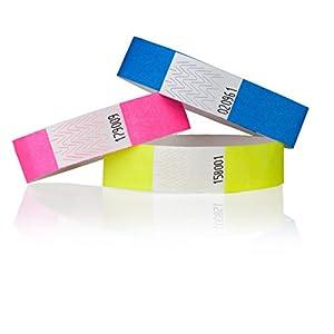 Premium KONTROLLBÄNDER / SECUREBÄNDER in allen Farben: 1000er Pack, Farbe: Neon Grün