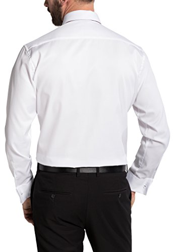 Eterna Long Sleeve Shirt Modern Fit Twill Uni Champagne