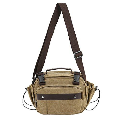 Yy.f Männer Und Frauen Lässig Kurierbeutel Tragetasche Umhängetasche Mannbeutel Multi-funktionale Outdoor-Reisetaschen Taschen Gezeiten Multicolor Brown
