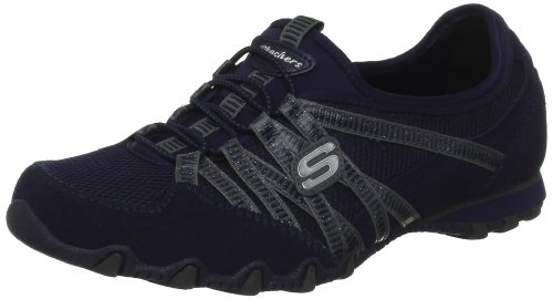 Skechers Bikers Hot-Ticket, Damen Sneakers, Blau (NVY), 38 EU (Sneakers Skechers Running)