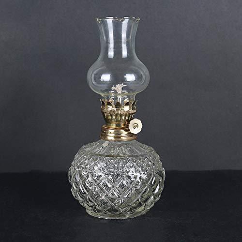 KMYX Lampe à huile classique maison d'urgence lumière coupure de courant antique lampe au kérosène corps rond lampe à beurre pour Bouddha lumière Vintage Props bricolage