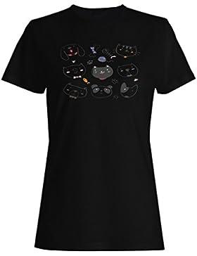 Novedad divertida de los amantes de los perros de los gatos lindos camiseta de las mujeres b248f