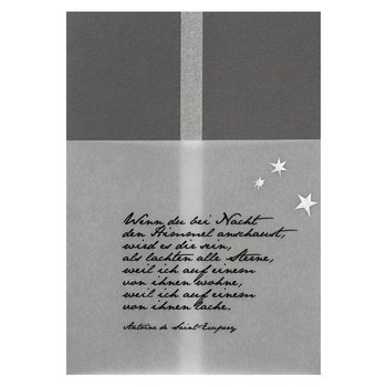 Kondolenzkarte - Wenn Du bei Nacht den Himmel anschaust... (Nacht Himmel Karte)