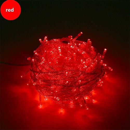 LLLSP String Light Weihnachtsdekoration 10M WeihnachtsfeierDekoration Lichter Girlande imFreien wasserdichte LED-Lampe 10m rot -