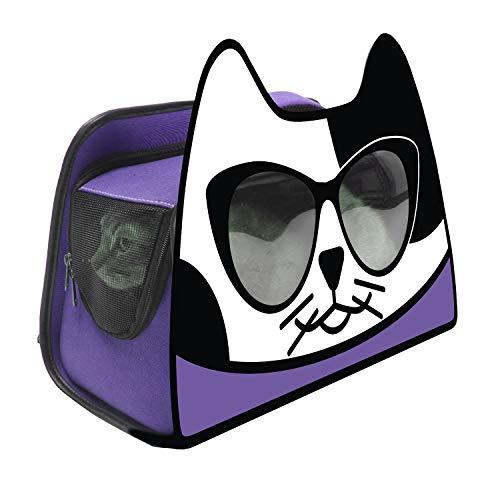 Primetime Petz Hauspanther Kittypak Faltbarer Rucksack Katze, Ultra Violet
