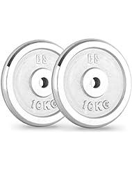 CAPITAL SPORTS CP 10 Juego de discos de pesa gimnasio (30 mm, 10 kg
