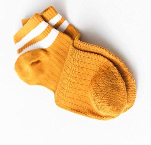 Lizes Frauen-weiche Baumwollbreathable Socken-gestreifte Socken-unsichtbare zufällige rutschfeste niedrige Schnitt-Socken (Gelb, 2 Paare) (Farbe : As shown, Größe : Average code) (Gestreifte Low-cut-socken)