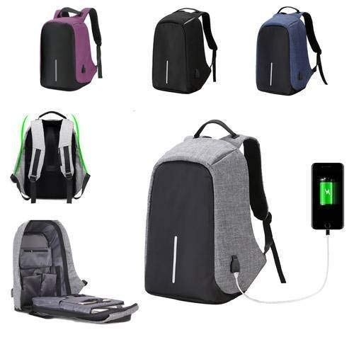 YTTY Anti-Theftt Mens Womens Laptop Casual Mode Jungen Business Laptop Tasche Rucksack/Rucksack Rucksack mit USB-Ladeanschluss Schultasche, Lila -