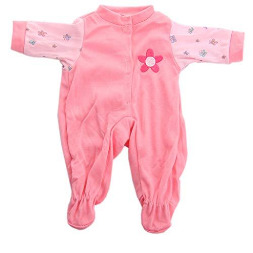 Webla 14 Zoll Puppenkleidung Kombination N139 Rosa Kleidung Onesies Für 14 Zoll Dolls Spielzeug Zubehör Mädchen 'S Spielzeug (Rosa)