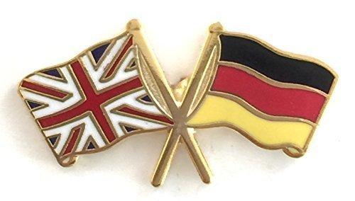 Union Jack & Germany Freundschaft National Flaggen Double Emaille Pin-Anstecker (Union Abzeichen Jack)