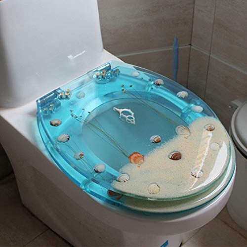 Sièges De Toilette, Type U-V Universel SièGe Toilette Couvercle De Toilette De Style Européen en Sourdine avec Deux Kits D'adaptation,K