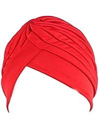 Gankmachine Chemo de Las Mujeres Plisado Pre Atado Cubierta de la Cabeza hacia Arriba de Punto Capo Casquillo Turbante Sun # 1