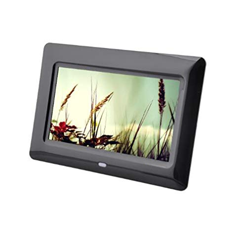 NINI 7 Zoll Digitaler Fotorahmen High-Definition LED-Video-Player Multi-Funktion Werbemaschine Geschenk Elektronisches Album,Black