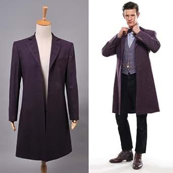 Doctor Dr. Who Homme Manteau en Laine Cosplay Costume d' Eleventh 11e Serie Anglaise Actuelle - Violet - *Sur Mesure*