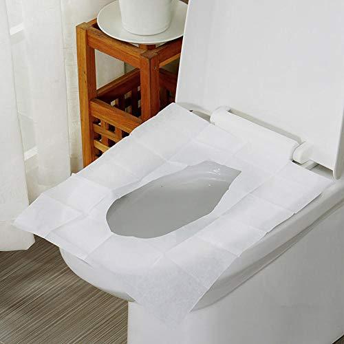 Home+Toilet mat Toilettentaschen Flush Seats Cover 100 Blatt Taschenformat Flushable & Disposable Wc-Sitzbezüge Für Die Reise Wc-Sitz @ Random